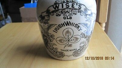 Stoneware Advertising Jug For Wise's Old Irish Whiskey With Winged Dragons