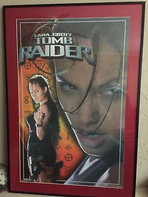 Framed High Quality Lara Croft Tomb Raider Angelina Jolie movie poster 2001