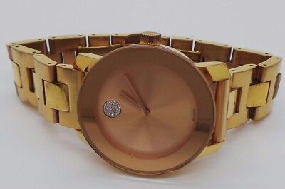 Movado Bold 36Mm Ladies Rose Gold Tone Swiss Watch Mb.01.3.34.6039  E16542-1