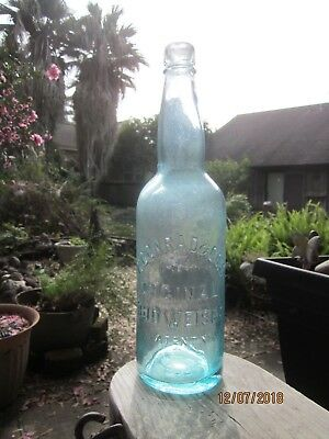 """ORIGINAL BUDWEISER C. CONRAD & Co."" BEER BOTTLE  (Large Size)  1875-90"