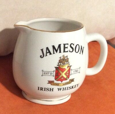 Vintage JAMESON Irish Whiskey Pub Jug Pitcher made in England for Arklow