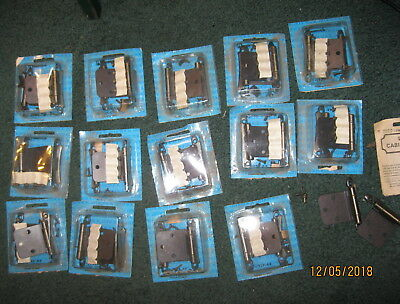 Vintage AMEROCK pair,lot of 16  packs cabinet hinges Antique English 7929-AE,NOS