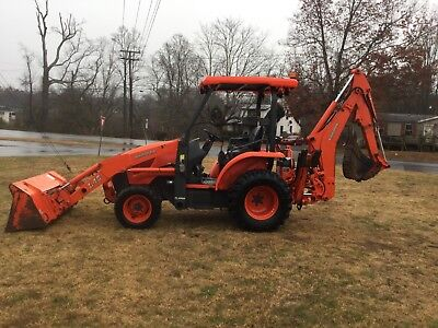 Nice Kubota L45 4x4 Loader Backhoe Tractor with 1808 Hours