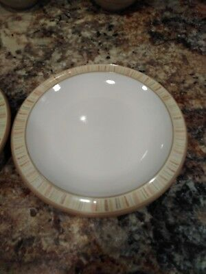 Denby CARAMEL STRIPES  Bread Plate England Stoneware