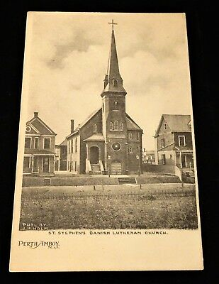 St. Stephens Danish Lutheran Church Perth Amboy NJ Postcard Undivided Back VG