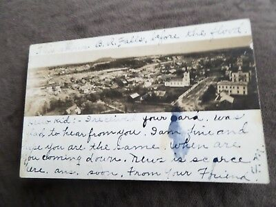 Rppc Baton Rouge, La Shows B.r. Falls Before The Flood Early 1900's