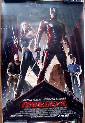 "Daredevil (Cast) 27"" X 40""  One Sheet Original Movie Poster Made In 2003"