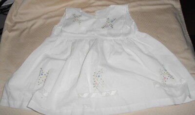 White Embroidered With Cutwork Cotton  Dress Very Sweet
