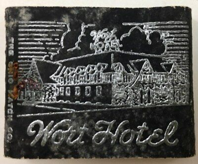 Rare Vintage - Wort Hotel - Jackson Hole Wyoming Matchbook - Unstruck