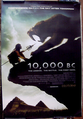 "10.000 Bc (Saber Tooth) 27"" X 40""  One Sheet Original Movie Poster Made In 2008"
