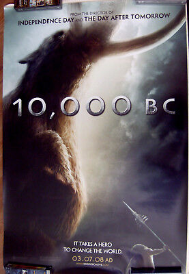 "10.000 Bc (Mammoth) 27"" X 40""  One Sheet Original Movie Poster Made In 2008"