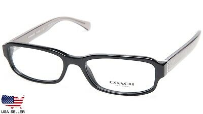 bdc9786bb9c0 New Coach Hc 6083 5354 Black  dark Grey Crystal Eyeglasses Glasses 52-17-