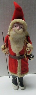 "Vintage Composition Santa Claus Figure 7 1/2"" Tall Nice Condition No Reserve"