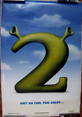 "Shrek 2 Advance 27"" X 40"" One Sheet Original Movie Poster Made In 2004"