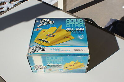 Vintage Aqua Star Air-Sub Radio Star Command Old Stock New in Box WORKS 1970s