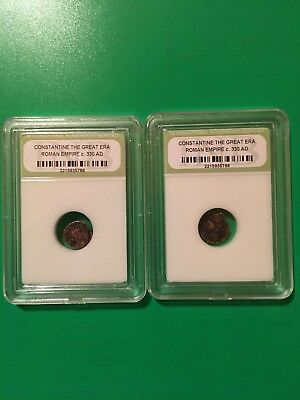 Constantine The Great Era Roman Empire 330 AD - Lot Of 2 Coins