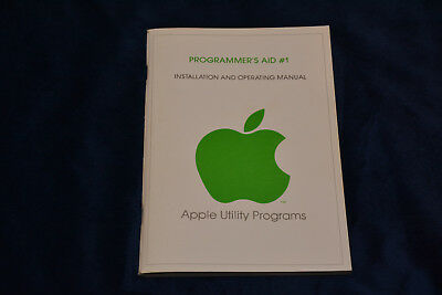 Vintage 1978 Apple Programmer's Aid #1 Installation and Operating Manual