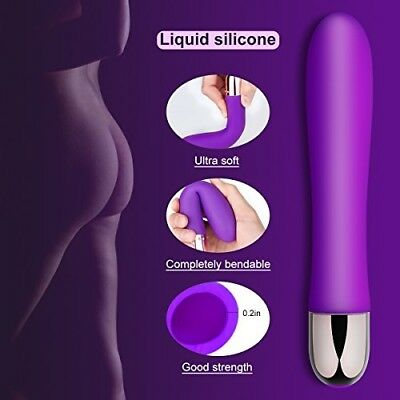 Waterproof Rechargeable g-spot Vibrator for Women - Ultra Soft Bendable Silicone