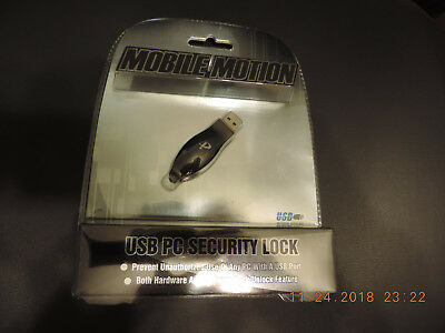 Mobile Motion USB PC Security Lock New