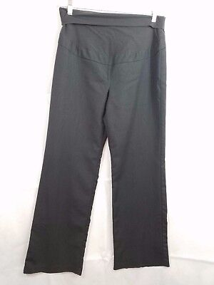 THYME MATERNITY Gray Dress PANTS Size Medium Wide Belly Band EUC