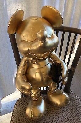 Disney Store Mickey Mouse Large Plush Gold Collection 90th Edition