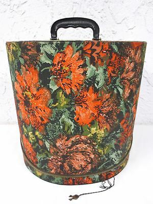 """VIntage Mid Century 1950s Hat Wig Box signed Blondy Luggage Montreal 12 3/4"""""""