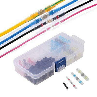 100pcs Heat Shrink Solder Sleeves Waterproof Wire Connections Terminals 2:1