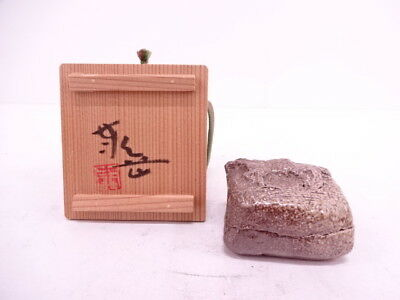 39082# Japanese Tea Ceremony / Incense Container / Ox Kogo