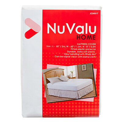 Mattress COVER Queen Size Fitted Plastic Bed Protector NUVALU PEVA SHIP FROM USA