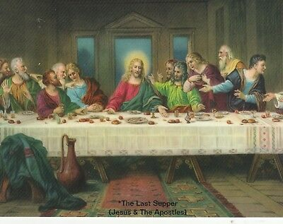 "+~Post Card~*Religious-""The Last Supper"" /Jesus & The Apostles-"