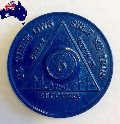 AA alcoholics anonymous 6 month recovery sobriety coin token chip medallion gift