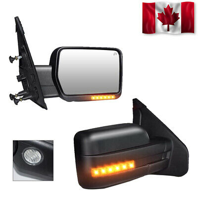 Fit 99-07 Ford F250 F350 F450 SD Yellow Power Heated Signal Towing Mirrors LH+RH