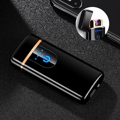 Rechargeable Double Arc Flameless Plasma Electric Lighter Smart Touch Sensor USB