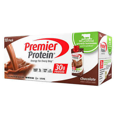 Premier Protein High Protein Shakes Hormone Free Chocolate 11 oz 18 pack