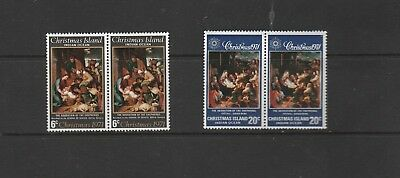 Christmas Island 1971 Pairs 6c,20c Adoration Mint Unhinged Stamps Cv $8