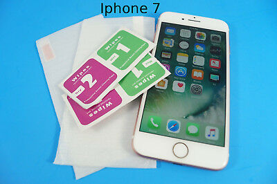 Tempered Glass OR Plastic Screen Protectors LOT for Apple Iphone 7 FAST SHIP