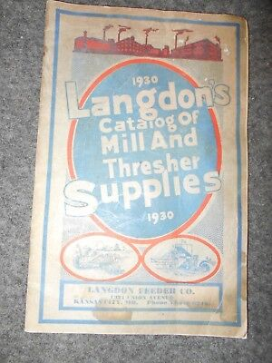 VTG 1930 LANGDON'S CATALOG OF MILL AND THRESHER SUPPLIES farm ag machine parts