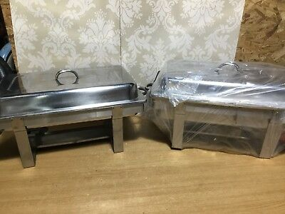 Pack of 2 Chafing Dishes Set Food Warmers