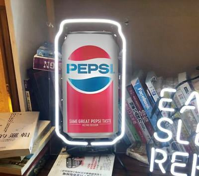 Pepsi Cola Coke Can Beer Bar Club Poster Mj Vintage Bottle Neon Light Sign 13""
