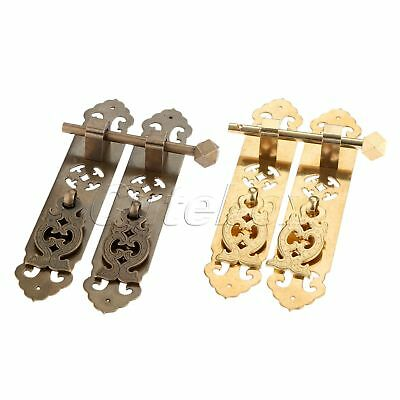1 Pair Furniture Handle Dresser Knob Door Security Bolt Cupboard Wardrobe Pull