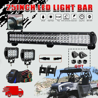 25INCH 162W CREE LED Work Light Bar Spot Flood Combo Offroad for Odes Dominator