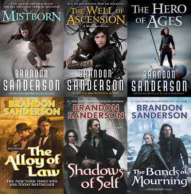 The MISTBORN Series By Brandon Sanderson (6 MP3 Audiobook Collection)