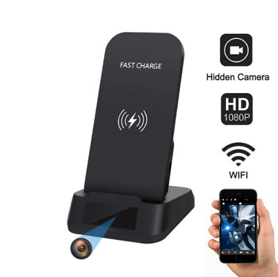 Hidden Camera 1080P WiFI IP Spy Cam Kaposev Nanny Pinhole Video Wireless Charger