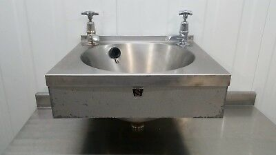 Hand Wash Sink With Taps Stainless Steel Catering Janitorial Commercial Sissons