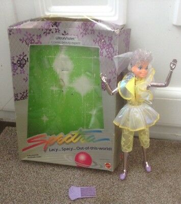 Vintage UltraViolet Spectra Mattel Doll 1986 Doll Is In Mint Condition. Like Jem