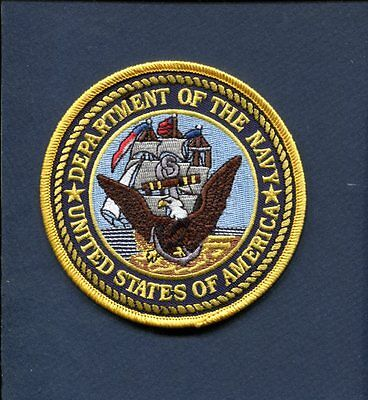 DEPARTMENT OF THE US NAVY UNITED STATES of AMERICA Ship Squadron Jacket Patch