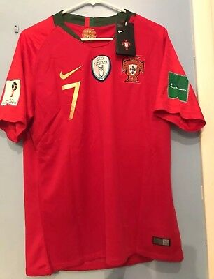 detailed look a5bb5 6d26b MENS CRISTIANO RONALDO Red Home Soccer Jersey New Mens Portugal #7