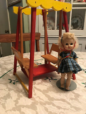 "Vintage Wood Doll Strombecker Glider For 8""  Dolls (no doll)"