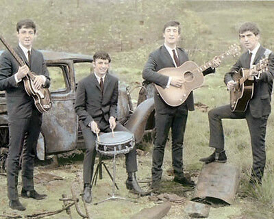 """THE BEATLES ROCK & ROLL LEGENDS earlydays 8x10"""" HAND COLOR TINTED PHOTOGRAPH"""