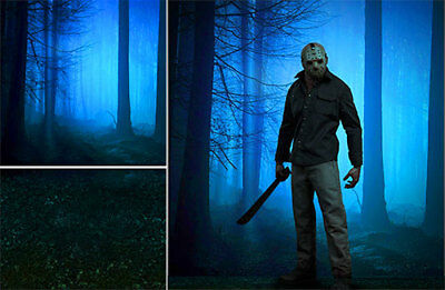 Poster Backdrop~Friday The 13Th~Slasher Forest For 1/6 Horror Figure Jason Micha